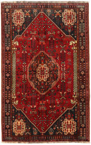 Qashqai Rug 156X250 Authentic  Oriental Handknotted Dark Red (Wool, Persia/Iran)