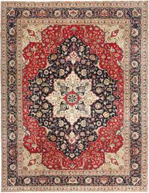 Tabriz Patina Teppe 300X390 Ekte Orientalsk Håndknyttet Lysbrun/Brun Stort (Ull, Persia/Iran)