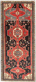 Hamadan Patina Tæppe 123X284 Ægte Orientalsk Håndknyttet Tæppeløber Mørkebrun/Lysebrun (Uld, Persien/Iran)