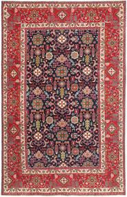 Tabriz Patina Matto 193X306 Itämainen Käsinsolmittu Tummanvioletti/Ruskea (Villa, Persia/Iran)