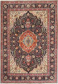 Tabriz Patina Matto 203X294 Itämainen Käsinsolmittu Vaaleanruskea/Tummanvioletti (Villa, Persia/Iran)