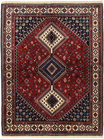 Yalameh Rug 156X203 Authentic  Oriental Handknotted Dark Red/Dark Grey (Wool, Persia/Iran)
