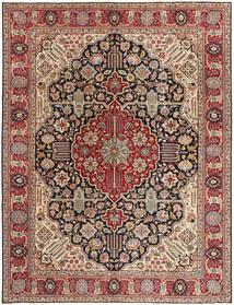 Täbriz Patina Teppich  276X354 Echter Orientalischer Handgeknüpfter Hellbraun/Braun Großer (Wolle, Persien/Iran)