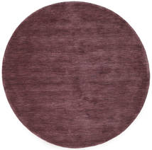 Handloom - Deep Wine Rug Ø 150 Modern Round Dark Purple/Dark Brown (Wool, India)