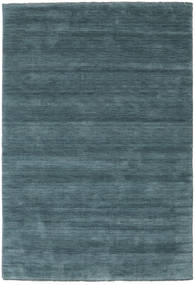 Handloom Fringes - Deep Petrol Rug 160X230 Modern Blue (Wool, India)