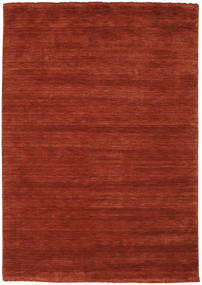 Handloom Fringes - Deep Rust Rug 160X230 Modern Rust Red/Dark Red/Crimson Red (Wool, India)