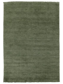 Handloom Fringes - Forest Green Rug 140X200 Modern Dark Grey/Dark Green (Wool, India)