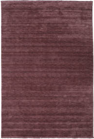 Handloom Fringes - Bordeaux Vloerkleed 200X300 Modern Donkerpaars/Donkerbruin (Wol, India)