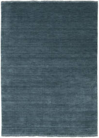 Handloom Fringes - Deep Petrol Rug 140X200 Modern Blue/Dark Blue (Wool, India)