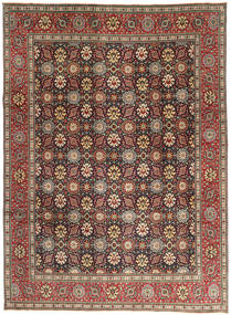 Tabriz Patina Matto 248X337 Itämainen Käsinsolmittu Tummanruskea/Ruskea (Villa, Persia/Iran)