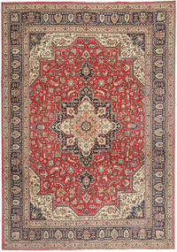 Tabriz Patina Rug 244X343 Authentic  Oriental Handknotted Light Brown/Dark Brown (Wool, Persia/Iran)