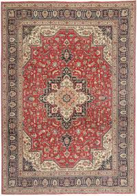 Tabriz Patina Matto 244X343 Itämainen Käsinsolmittu Vaaleanruskea/Tummanruskea (Villa, Persia/Iran)