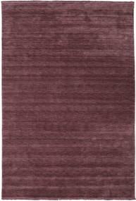 Handloom fringes - Weinrot Teppich CVD19289