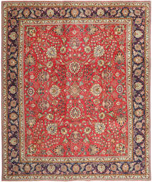 Tabriz Patina Teppe 288X342 Ekte Orientalsk Håndknyttet Lysbrun/Rust Stort (Ull, Persia/Iran)