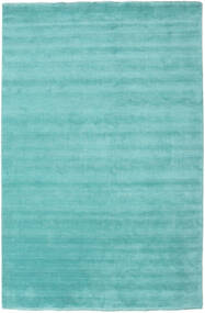 Handloom fringes - Aqua carpet CVD19157