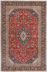 Keshan Patina Rug 222X345 Authentic  Oriental Handknotted Dark Red/Dark Brown (Wool, Persia/Iran)