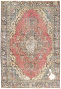 Colored Vintage Rug 190X276 Authentic  Modern Handknotted Light Grey/Light Brown (Wool, Persia/Iran)
