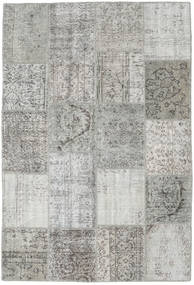 Patchwork Rug 159X232 Authentic  Modern Handknotted Light Grey/Beige (Wool, Turkey)