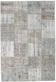 Patchwork Rug 160X233 Authentic  Modern Handknotted Light Grey/Beige (Wool, Turkey)