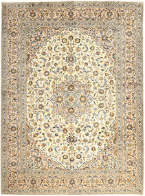 Keshan Rug 300X400 Authentic  Oriental Handknotted Dark Beige/Beige Large (Wool, Persia/Iran)