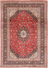 Keshan Rug 240X348 Authentic  Oriental Handknotted Purple/Light Brown (Wool, Persia/Iran)