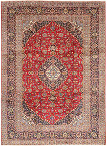 Keshan Rug 245X338 Authentic  Oriental Handknotted Dark Red/Light Brown (Wool, Persia/Iran)