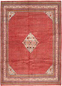 Sarough Mir Matta 217X310 Äkta Orientalisk Handknuten Mörkröd/Roströd (Ull, Persien/Iran)