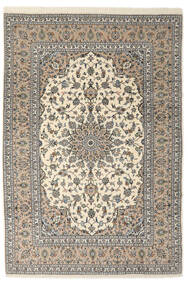 Keshan Sherkat Farsh Rug 205X300 Authentic  Oriental Handknotted Light Grey/Beige/Dark Beige (Wool, Persia/Iran)
