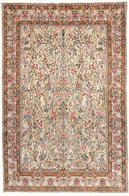 Kerman Lavar Matta 195X295 Äkta Orientalisk Handknuten Ljusbrun/Beige (Ull, Persien/Iran)