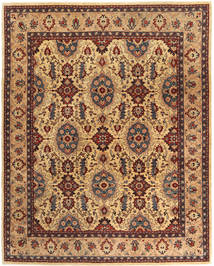 Kerman Sherkat Farsh Matta 245X296 Äkta Orientalisk Handknuten Ljusbrun/Mörkröd (Ull, Persien/Iran)