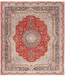 Kerman Lavar Teppe 254X294 Ekte Orientalsk Håndknyttet Lysbrun/Lyserosa Stort (Ull, Persia/Iran)