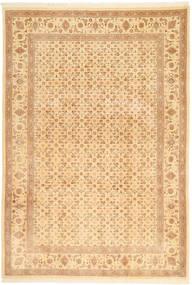 Tabriz 50 Raj Tapis 197X287 D'orient Fait Main Marron Clair/Beige Foncé/Rose Clair (Laine, Perse/Iran)