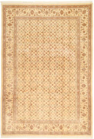 Tabriz 50 Raj Teppe 197X287 Ekte Orientalsk Håndknyttet Lysbrun/Mørk Beige/Lyserosa (Ull, Persia/Iran)