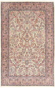 Kerman Lavar Rug 213X315 Authentic  Oriental Handknotted Beige/Light Grey (Wool, Persia/Iran)