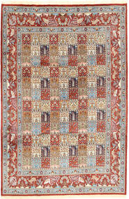 Moud Sherkat Farsh Rug 190X297 Authentic  Oriental Handknotted Light Brown/Dark Red (Wool, Persia/Iran)