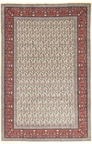 Moud Sherkat Farsh Covor 204X300 Orientale Lucrat Manual Maro Deschis/Bej (Lână/Mătase, Persia/Iran)