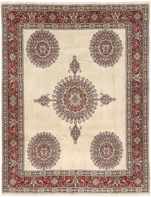 Moud Rug 210X270 Authentic  Oriental Handknotted Light Brown/Beige (Wool, Persia/Iran)