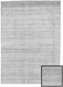 Bamboo Grass - Grey Rug 140X200 Modern Light Grey/White/Creme (Wool/Bamboo Silk, Turkey)