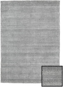 Bamboo Grass - Black_ Grey Rug 140X200 Modern Light Grey/Dark Grey/White/Creme (Wool/Bamboo Silk, Turkey)