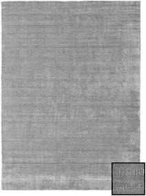 Bamboe Grass - Black_ Grijs Tapijt 210X290 Modern Lichtgrijs/Donkergrijs (Wol/Bamboezijde, Turkije)
