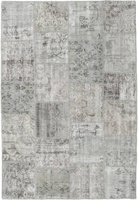 Patchwork Tapis 157X233 Moderne Fait Main Gris Clair (Laine, Turquie)