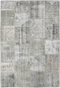 Patchwork Tapis 157X230 Moderne Fait Main Gris Clair (Laine, Turquie)