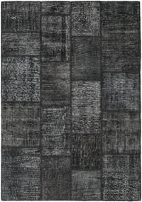 Patchwork Matto 139X201 Moderni Käsinsolmittu Tummanharmaa/Tummansininen (Villa, Turkki)