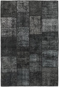 Patchwork Rug 138X204 Authentic  Modern Handknotted Dark Grey/Black (Wool, Turkey)