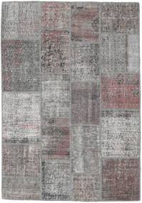 Patchwork Rug 140X202 Authentic  Modern Handknotted Light Grey/Dark Grey (Wool, Turkey)