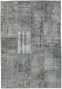 Patchwork Rug 138X201 Authentic  Modern Handknotted Dark Grey/Light Grey (Wool, Turkey)