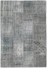 Patchwork Rug 138X200 Authentic  Modern Handknotted Light Grey/Dark Grey (Wool, Turkey)
