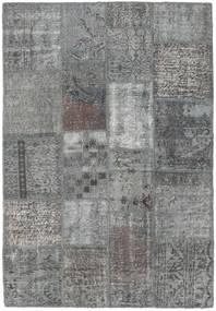 Patchwork Matto 138X201 Moderni Käsinsolmittu Vaaleanharmaa/Tummanharmaa (Villa, Turkki)