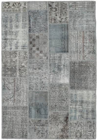 Patchwork Rug 139X201 Authentic  Modern Handknotted Dark Grey/Light Grey (Wool, Turkey)