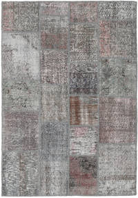 Patchwork Rug 140X200 Authentic  Modern Handknotted Light Grey/Dark Grey (Wool, Turkey)